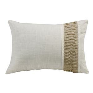 New Port White and Cream 16 x 24 In. Throw Pillow