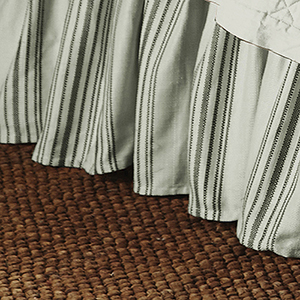 Prescott Taupe Stripe Queen Bed Skirt