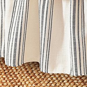 Prescott Navy Stripe Queen Bed Skirt