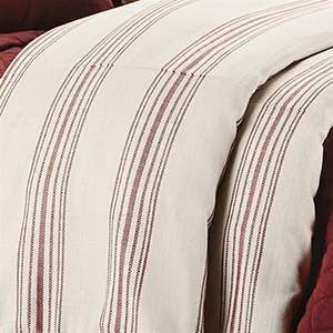 Prescott Red Stripe Super Queen Duvet