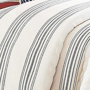 Prescott Navy Stripe Super King Duvet
