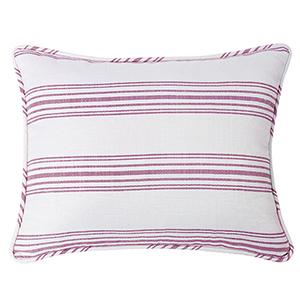 Prescott Red Stripe Standard Pillow Sham