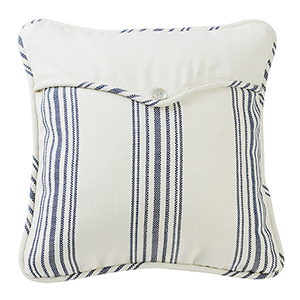 Prescott Navy Stripe 18 x 18 In. Throw Pillow