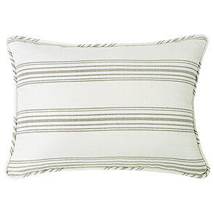 Prescott Taupe Stripe King Pillow Sham