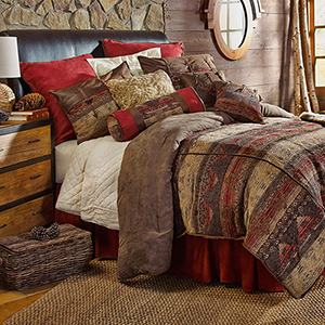 Sierra Brown Twin Five-Piece Comforter Set