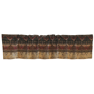 Sierra Brown, Red and Tan 84 x 18- Inch Valance