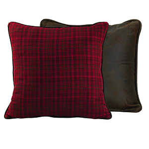Cascade Lodge Red and Brown Euro Sham