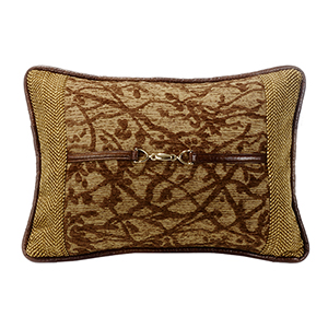 Highland Lodge Brown 14 x 20 In. Throw Pillow with Buckle Detail