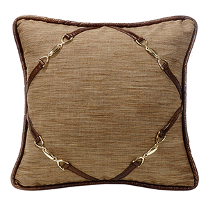Highland Lodge 18 x 18 In. Throw Pillow with Buckle Corners