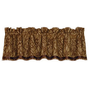 Highland Lodge Brown 84 x 18-Inch Valance
