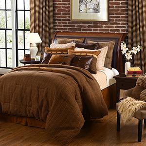 Crestwood Brown Super Queen Five-Piece Comforter Set