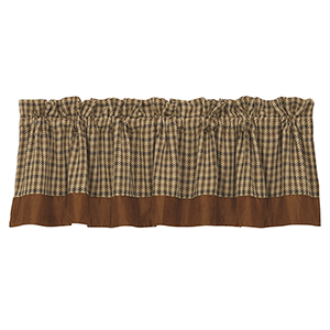 Crestwood Tan and Brown Houndstooth 84 x 18-Inch Valance