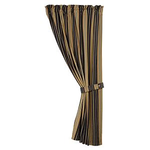 Ashbury Black and Tan 48 x 84-Inch Curtain Single Panel