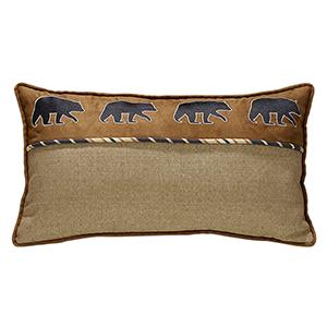 Ashbury Black Bear 20 x 27 In. Throw Pillow