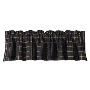 Ashbury Black and Tan 84 x 18- Inch Valance
