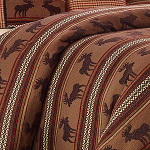 Red and Brown Moose Full Duvet