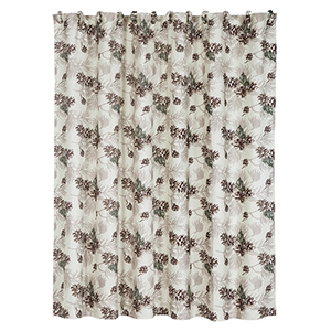 Forest Pines Beige 72 x 72 In. Shower Curtain