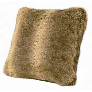 Faux Wolf Fur 18 x 18 In. Throw Pillow