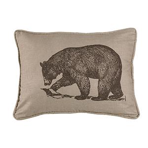 Walking Bear 16 x 21 In. Throw Pillow