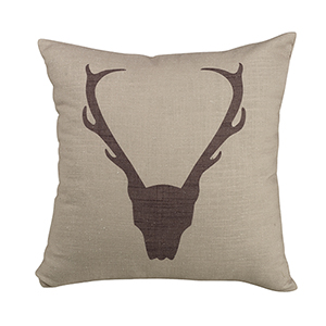 Printed Antler 18 x 18 In. Throw Pillow
