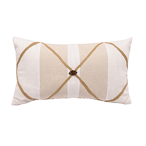 Linen Button 13 x 22 In. Throw Pillow