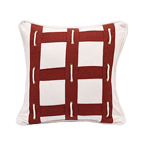 Linen Rope 18 x 18 In. Throw Pillow