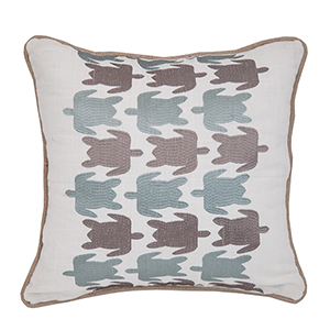 Turtle Embroidered 18 x 18 In. Throw Pillow