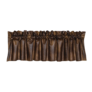 Brown Faux Leather 84 x 18-Inch Valance