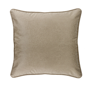 Silverado Cream Faux Leather Euro Sham