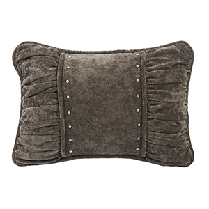 Silverado Charcoal Grey 14x 20 In. Shirred Throw Pillow