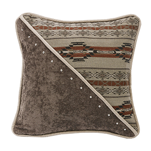 Silverado Grey, Taupe and Rust 18 x 18 In. Throw Pillow