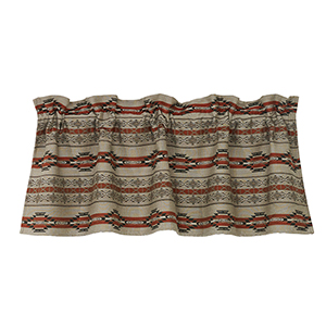 Silverado Taupe and Red 56 x 18-Inch Valance