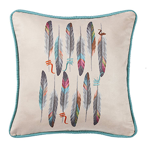 Serape Feather 18 x 18 In. Throw Pillow