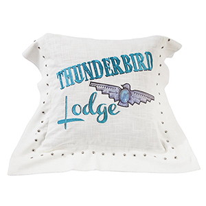 Serape Thunderbird 18 x 18 In. Throw Pillow
