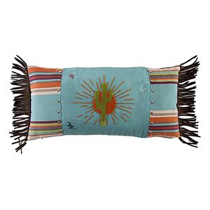 Serape Sunburst Multicolor 24 x 12 In. Throw Pillow