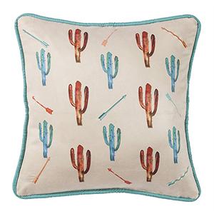Serape Cactus 18 x 18 In. Throw Pillow