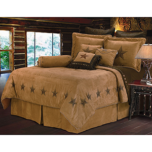 Luxury Star Tan Twin Five-Piece Comforter Set