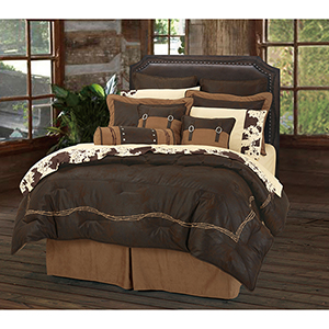 Embroidered Barbwire Chocolate Super King Seven-Piece Comforter Set