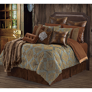 Bianca Blue Super King Five-Piece Comforter Set