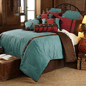 Cheyenne Turquoise Twin Five-Piece Comforter Set