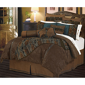 Del Rio Brown Twin Four-Piece Comforter Set
