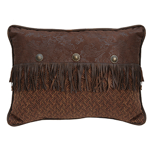 Del Rio Brown 16 x 21 In. Throw Pillow with Conchos