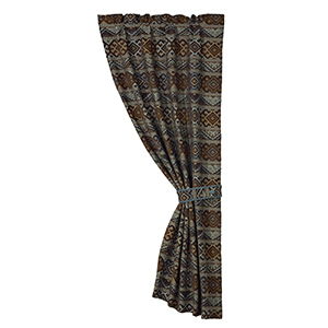 Rio Grande Brown and Blue 84 x 48-Inch Curtain Single Panel