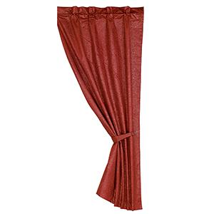 Cheyenne Red 84 x 48-Inch Curtain Single Panel