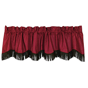 Cheyenne Red 84 x 18-Inch Valance with Fringe