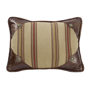Ruidoso Tan and Brown 16 x 21 In. Throw Pillow with Scalloped Corners