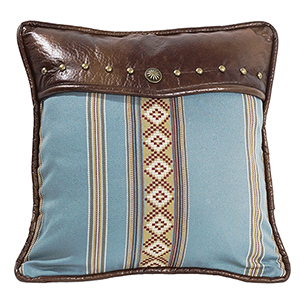 Ruidoso Turquoise 18 x 18 In. Throw Pillow with Studs