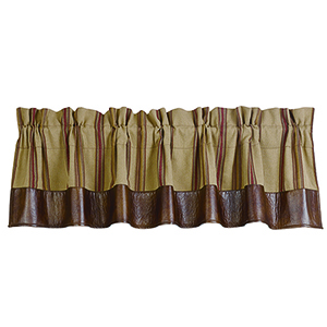 Ruidoso Brown 84 x 18-Inch Valance