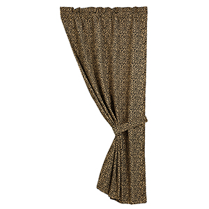San Angelo Chenille Leopard 84 x 48- Inch Curtain Single Panel
