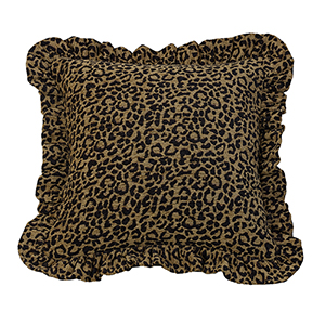 San Angelo Leopard 18 x 18 In. Throw Pillow
